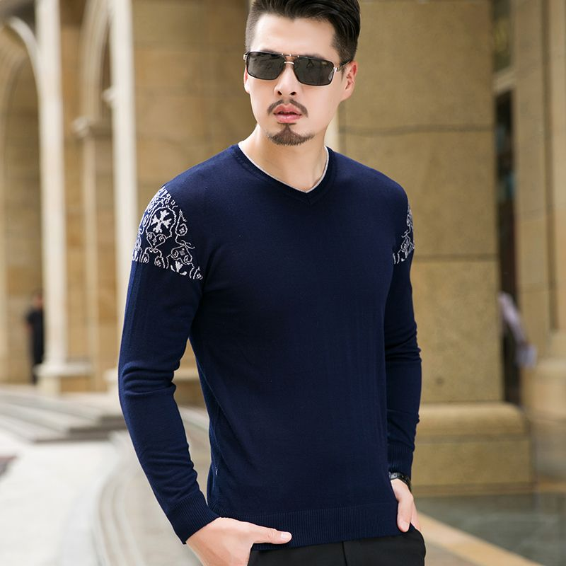 Sweater Men Knitwear Male 2017 Autumn New Fashion V-Neck Casual ...