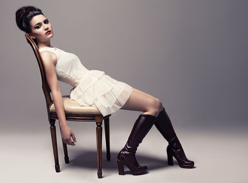 how to wear boots with dresses and skirts