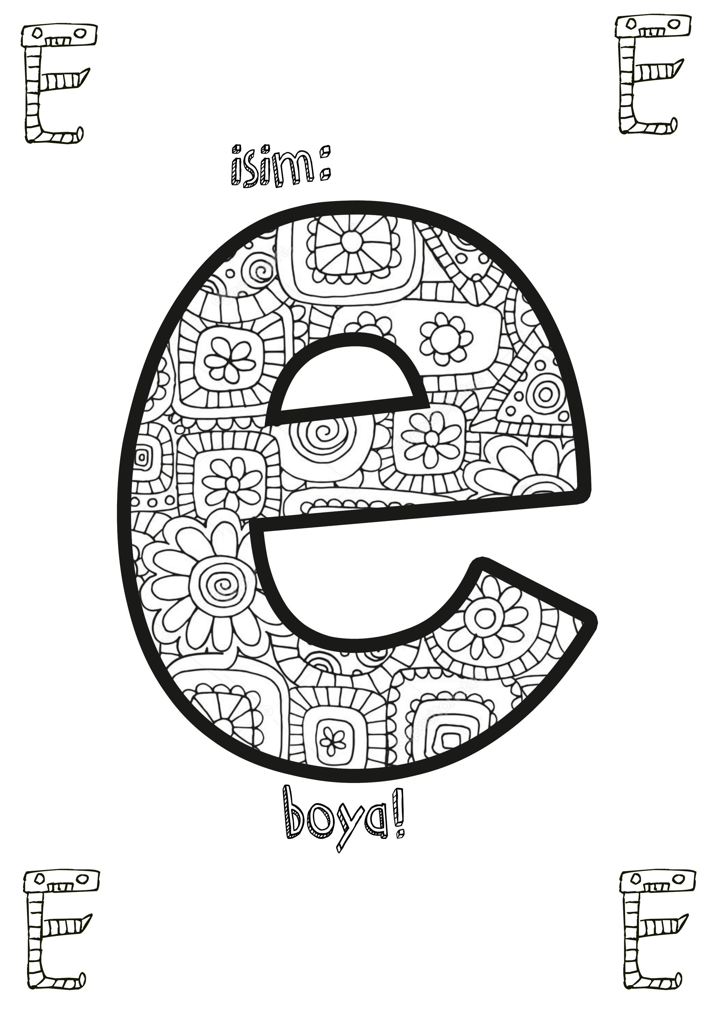 Kucuk A Harfi Boyama Ust Ev Boyama Sayfasi