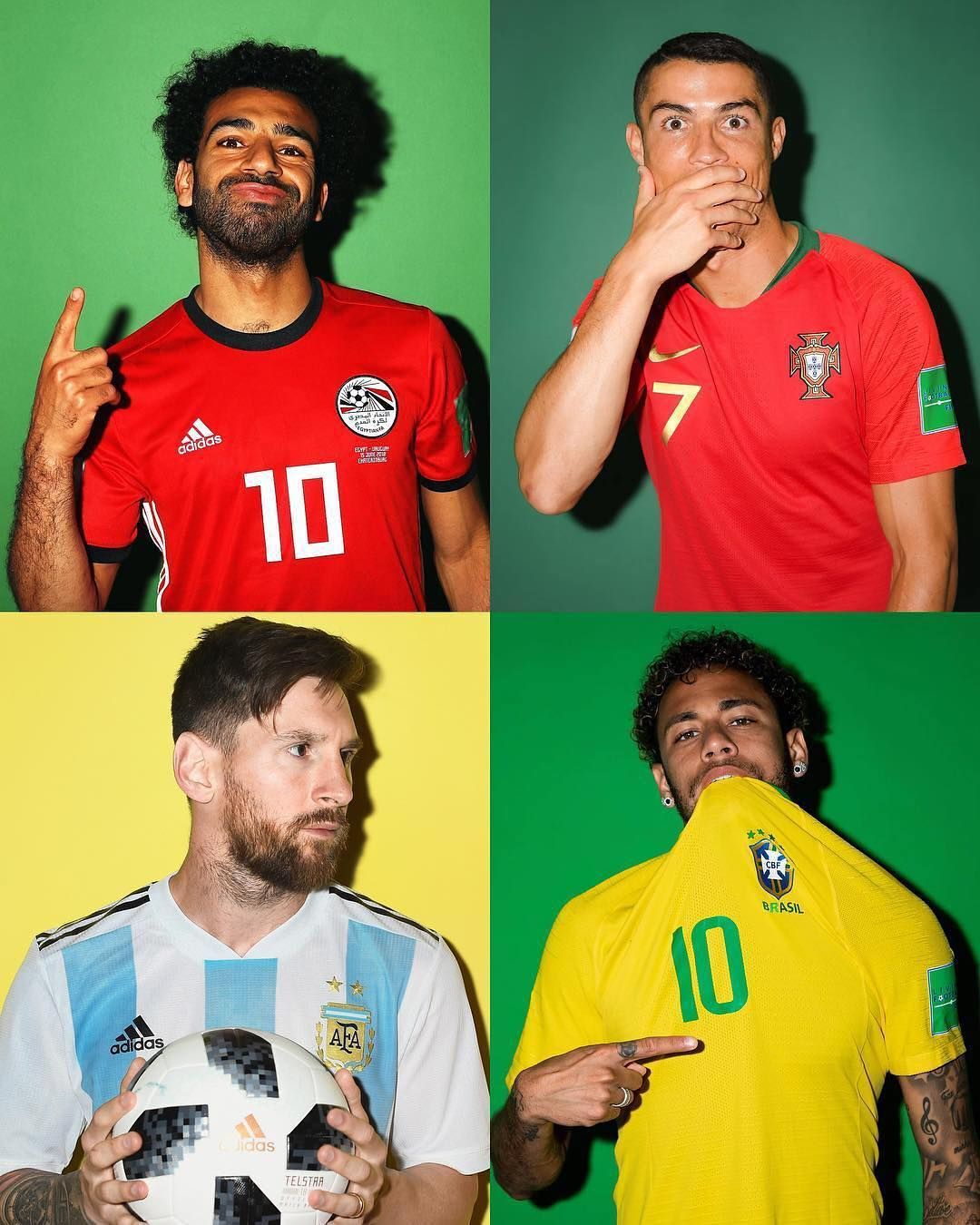 Whos Gonna Be The At The World Cup Salah Ronaldo Messi Neymar Worldcup Russia2018 2018worldcup Camisa Selecao Brasileira Futebol Soccer Lionel Messi