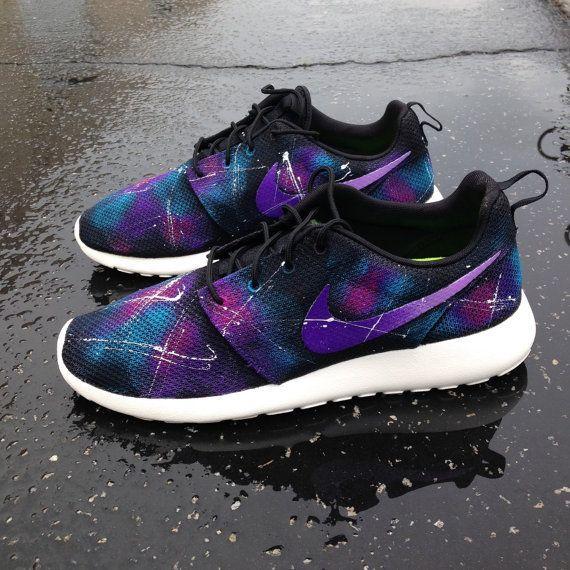 cheap for discount 632ab 7c1b3 Custom galaxy Nike Roshe Runs by SneakerKraft on Etsy  nike  rosherun   galaxy
