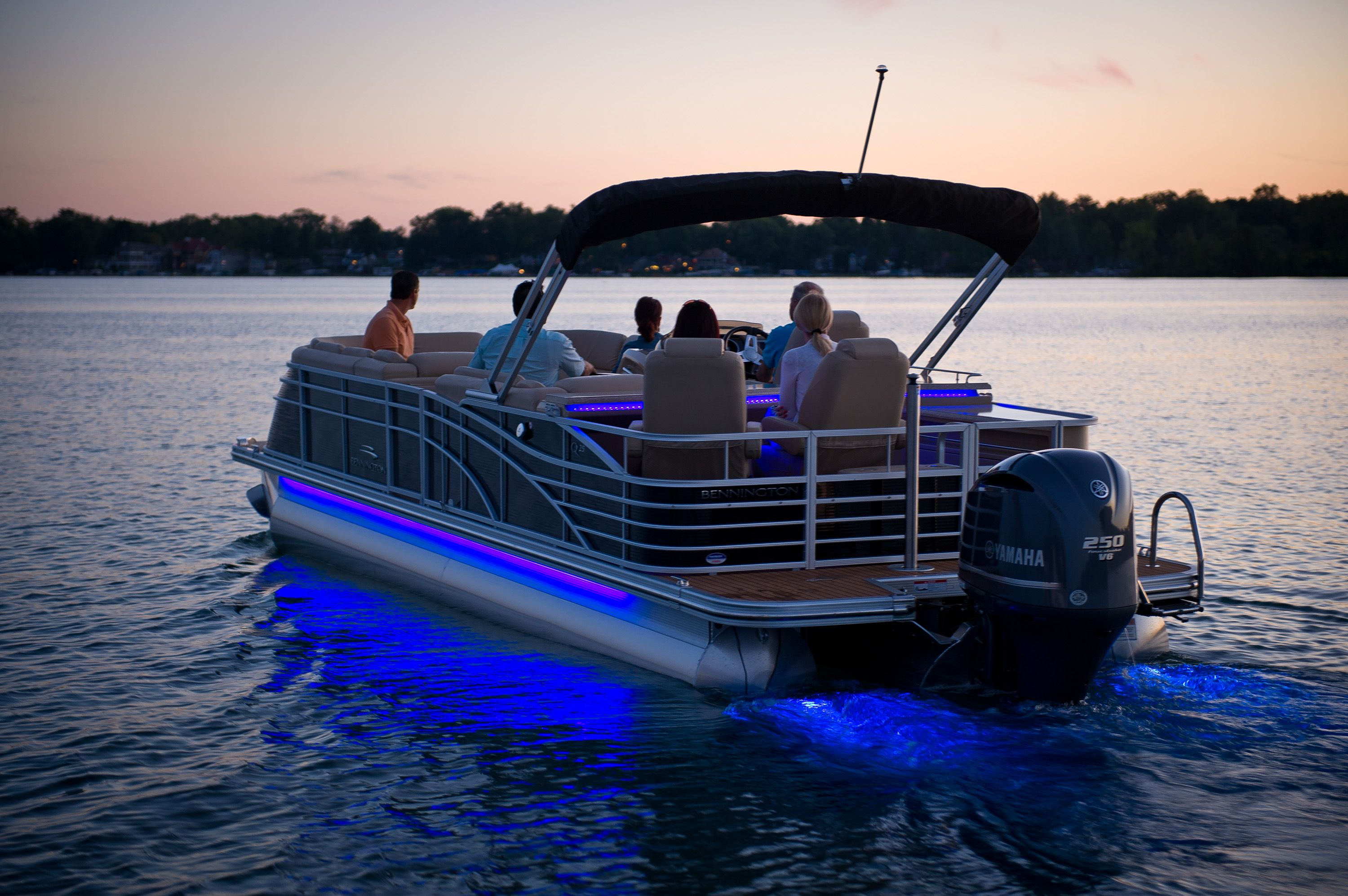 2013 Bennington 2550 QBR w/ underwater and side LED lighting. Party on deck lighting ideas, pontoon furniture, houseboat lighting ideas, custom lighting ideas, pontoon fishing lights, trailer lighting ideas, dock lighting ideas, kayak lighting ideas, pier lighting ideas, light parade ideas, pontoon an inboard to outboard conversion, lighted christmas parade float ideas, malibu lighting ideas, boat lighting ideas,