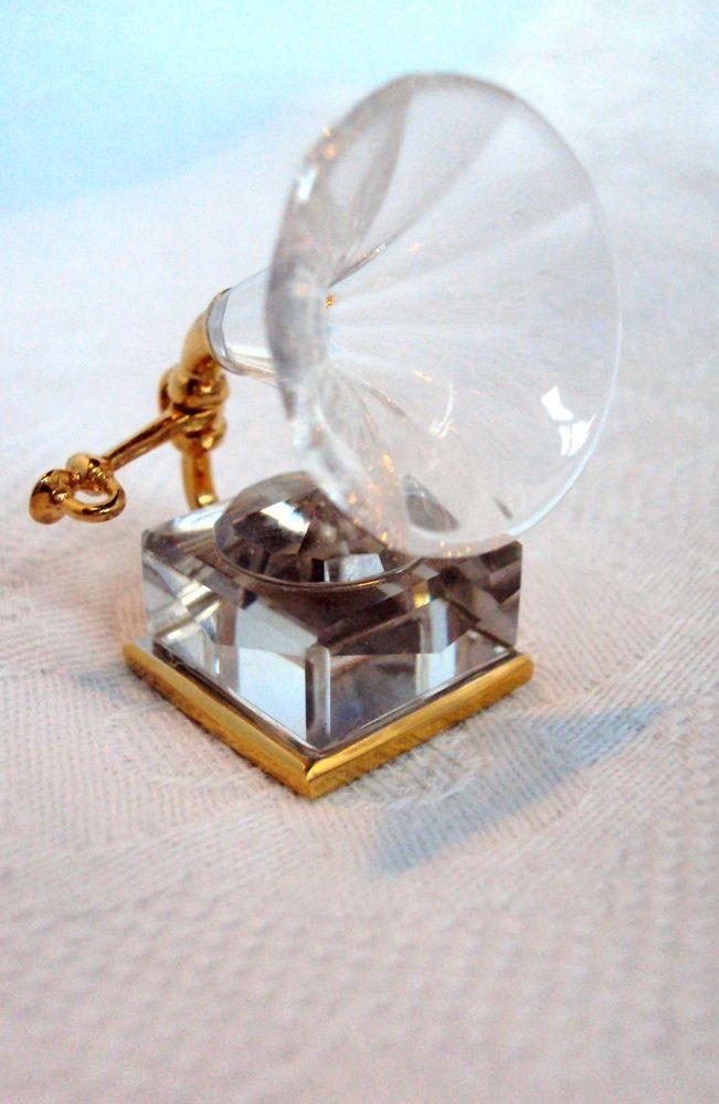 f06aac6c2f14 Rare swarovski crystal memories miniature gramaphone