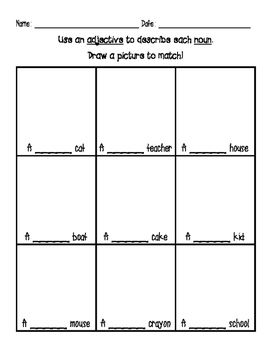 Addition With Pictures Worksheets Word Free Use Adjectives To Describe Nouns Worksheet First Grade  Area And Perimeter Of A Triangle Worksheet Word with Us States And Capitals Printable Worksheets Excel Use Adjectives To Describe Nouns Worksheet First Grade Second Grade Unitary Method Worksheet Excel