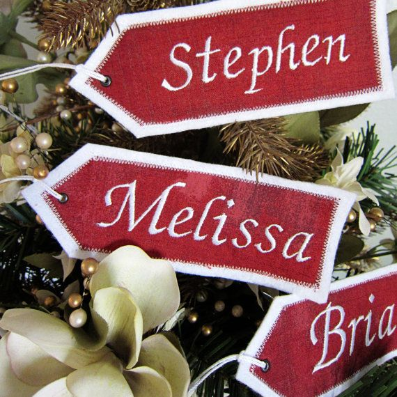 81c76a84dd8 Personalized Embroidered Christmas Stocking Name Tags