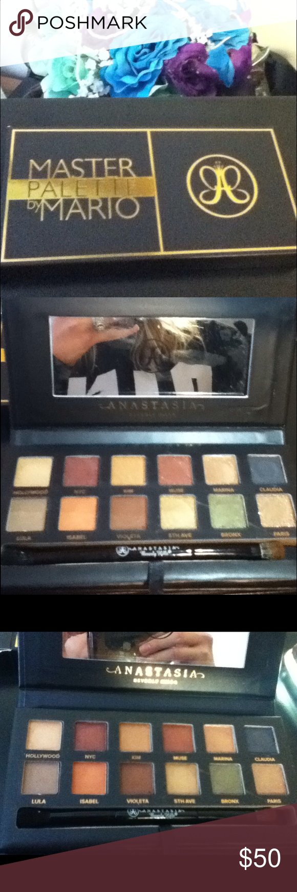 Master palette by Mario Anastasia Beverly hills Lightly searched only. Comes with the box and brush! Beautiful limited edition palette!! Created by Kim kardashians makeup artist!!! NO RUDE COMMENTS!!! I ACCEPT OFFERS!!! Anastasia Beverly Hills Other