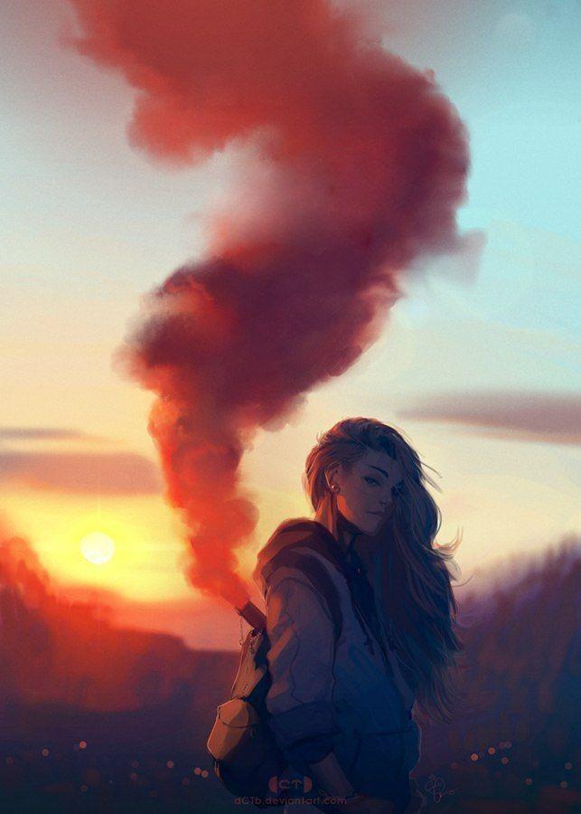 Крутые картинки с дымом аниме