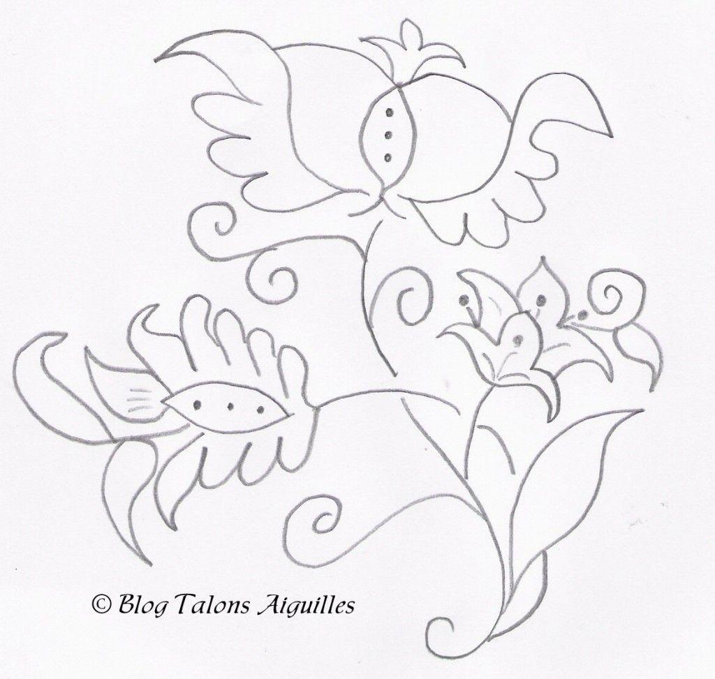 Mod le broderie fleur gratuit broderie de luneville - Fleurs a dessiner modele ...