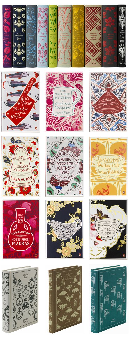 penguin classic cloth books. Love these designs by Caralie Bickfor-Smith