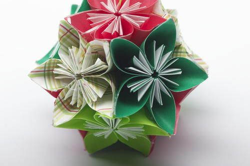 Photo of Folded Flower Ball Ornament