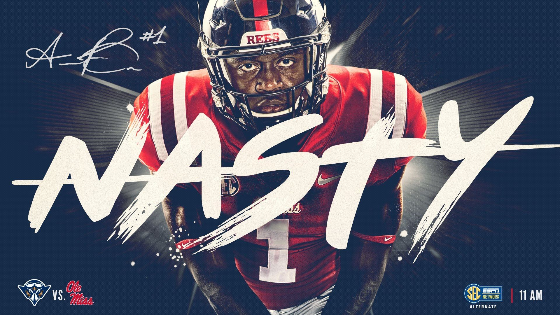 Ole miss with images football design sports design