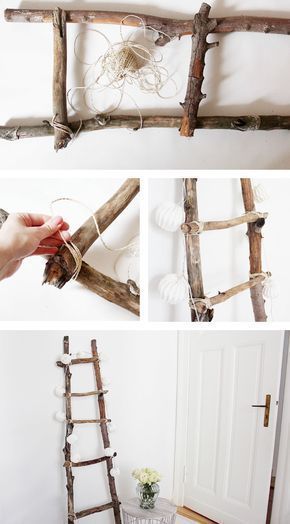 Deco ladder DIY DIY tutorial -  Building a decorative ladder yourself is super easy and cheap – the complete DIY tutorial is avai - #Deco #DIY #dowant #head #homediy #howtoselflove #ladder #makeuptutorial #nomake #ones #put #tutorial