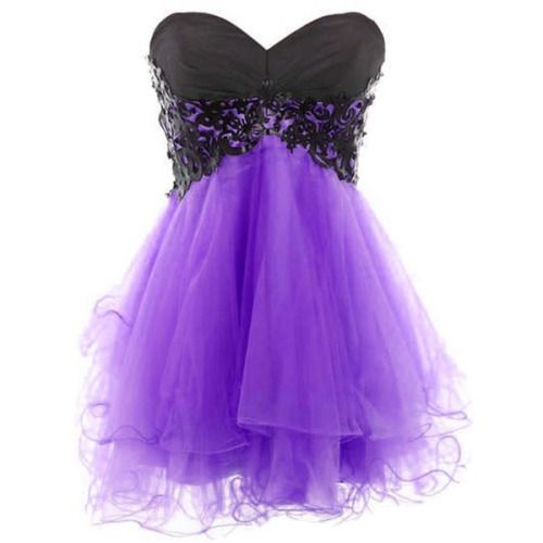 short purple prom dress | Tumblr | dresses | Pinterest | Prom ...