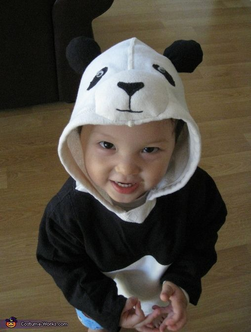 My 2 years old son really likes his stuffed panda bear so I decided to make him a panda bear for Halloween this year.  sc 1 st  Pinterest & Panda Bear - Halloween Costume Contest at Costume-Works.com ...