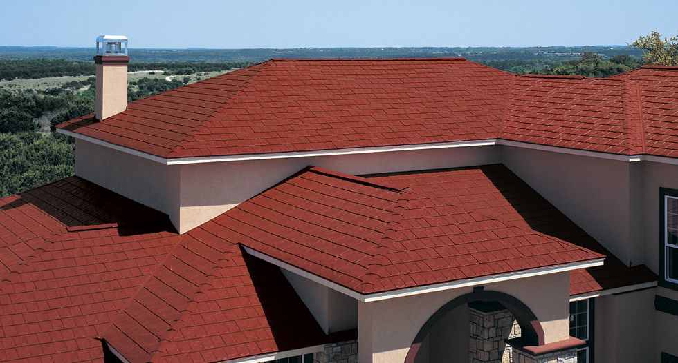 Think metal roofing needs to be dark or metallic? Here's a
