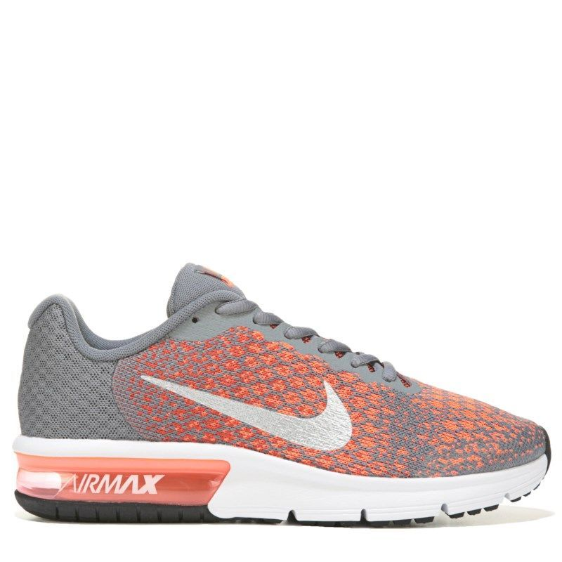 new style 5e959 57c48 Nike Kids  Air Max Sequent 2 Running Shoe Grade School Shoes (Cool Grey Max  Orange)