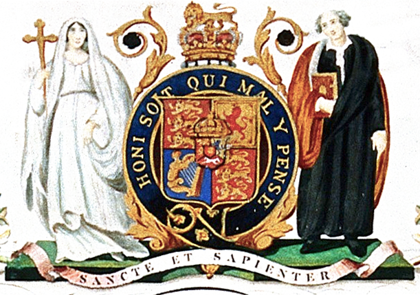 King S Coat Of Arms Used From 1829 To 1985 Coat Of Arms Of King S College London 1829 1985 King S College London King S College King S College London