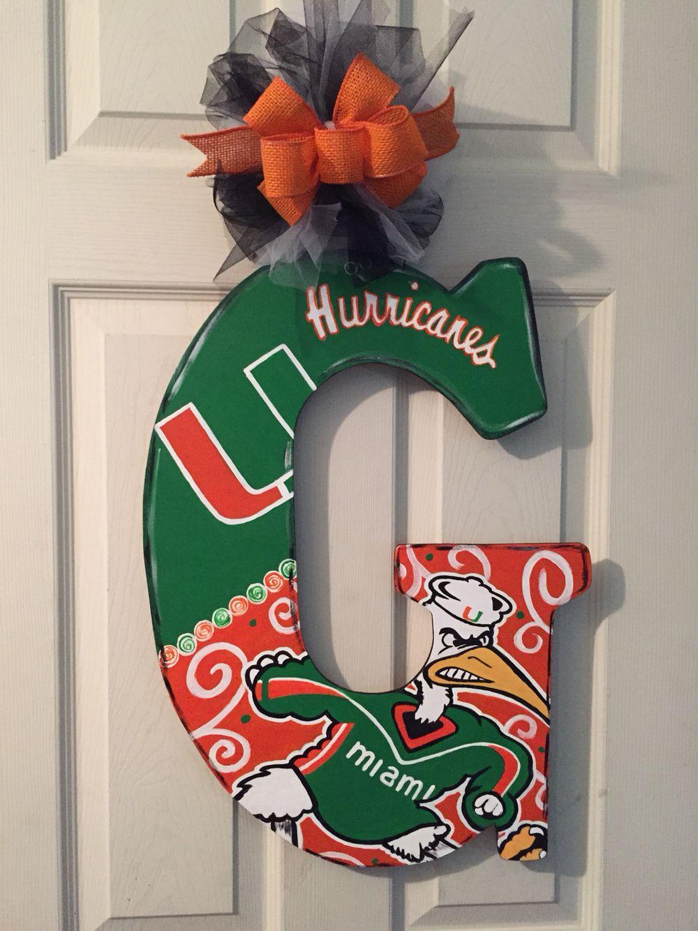 University of Miami football door hanger