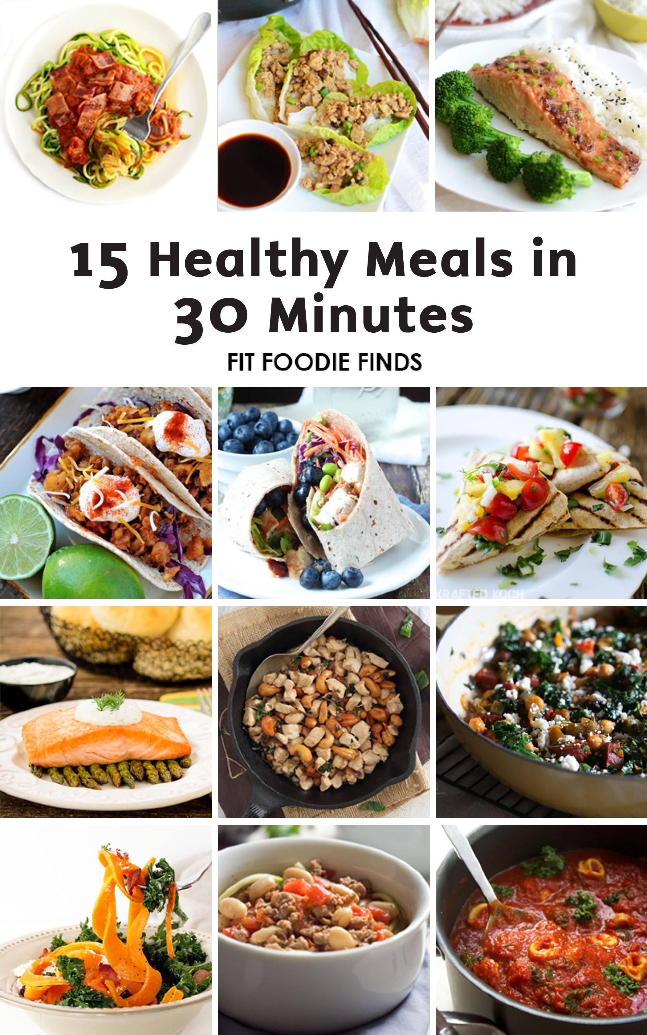 Eating healthy while living a busy lifestyle is a challenge these these 15 delicious and healthy dinner recipes can be made in under 30 minutes leaving you extra time to enjoy all of forumfinder Gallery