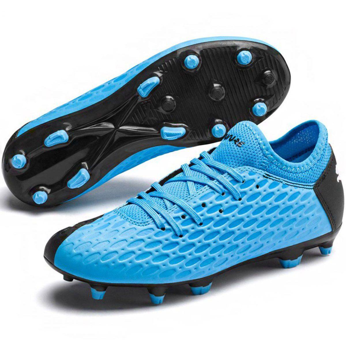 Buty Pilkarskie Puma Future 5 4 Fg Ag Jr 105810 01 Niebieskie Granatowe Football Boots Football Shoes Youth Football