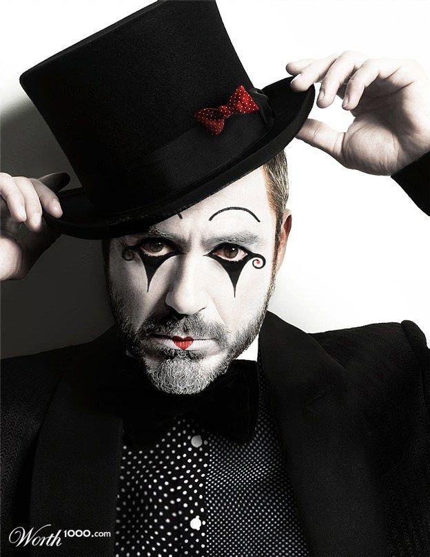 robert downey jr   ideas   Mime makeup, Halloween circus y ...