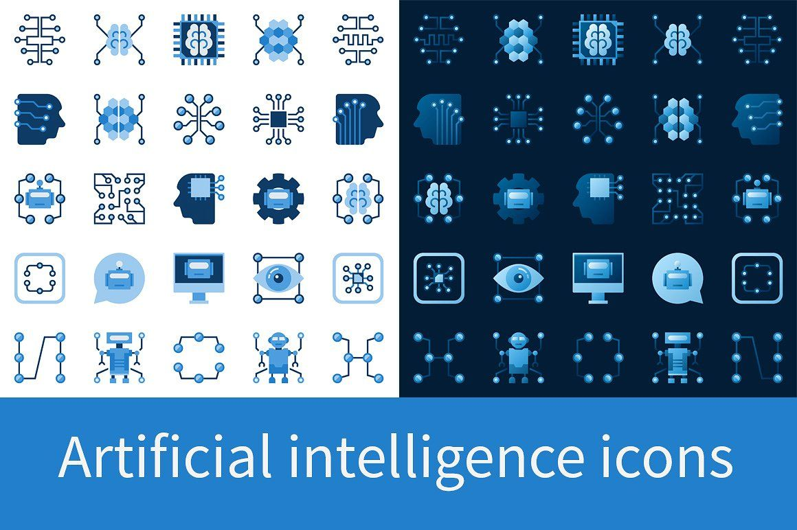 Artificial Intelligence Icons Set Artificial Intelligence Machine Learning Artificial Intelligence Artificial Intelligence Art