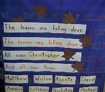leaf poem love the repetition of sight word the and names of school literacy fall. Black Bedroom Furniture Sets. Home Design Ideas