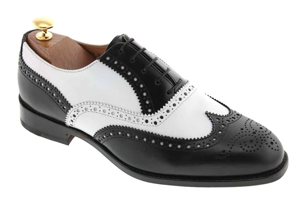 445fc75eaa1a0 Center 51 vous présente le modèle Richelieu Baxton 3763 cuir bicolore noir  et blanc à 139