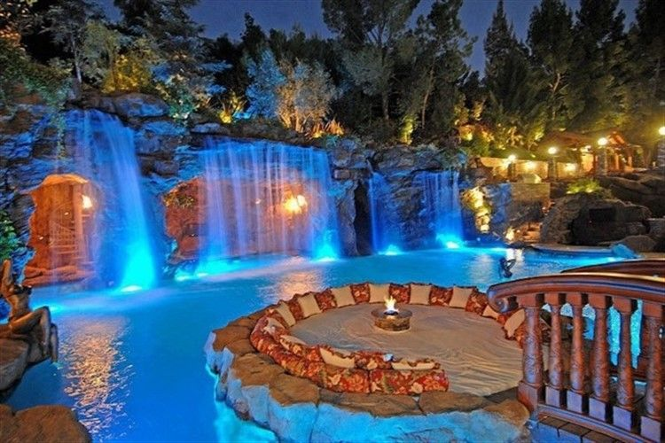 25 Wonderful Waterfall Ideas For An Extravagant Backyard Dream Pools Cool Pools Beautiful Pools
