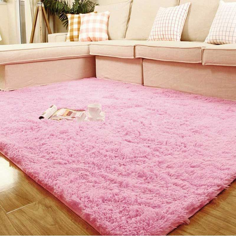 Pink Super Soft Table Large Doormat Livingroom Rugs Anti-Skid Shaggy ...