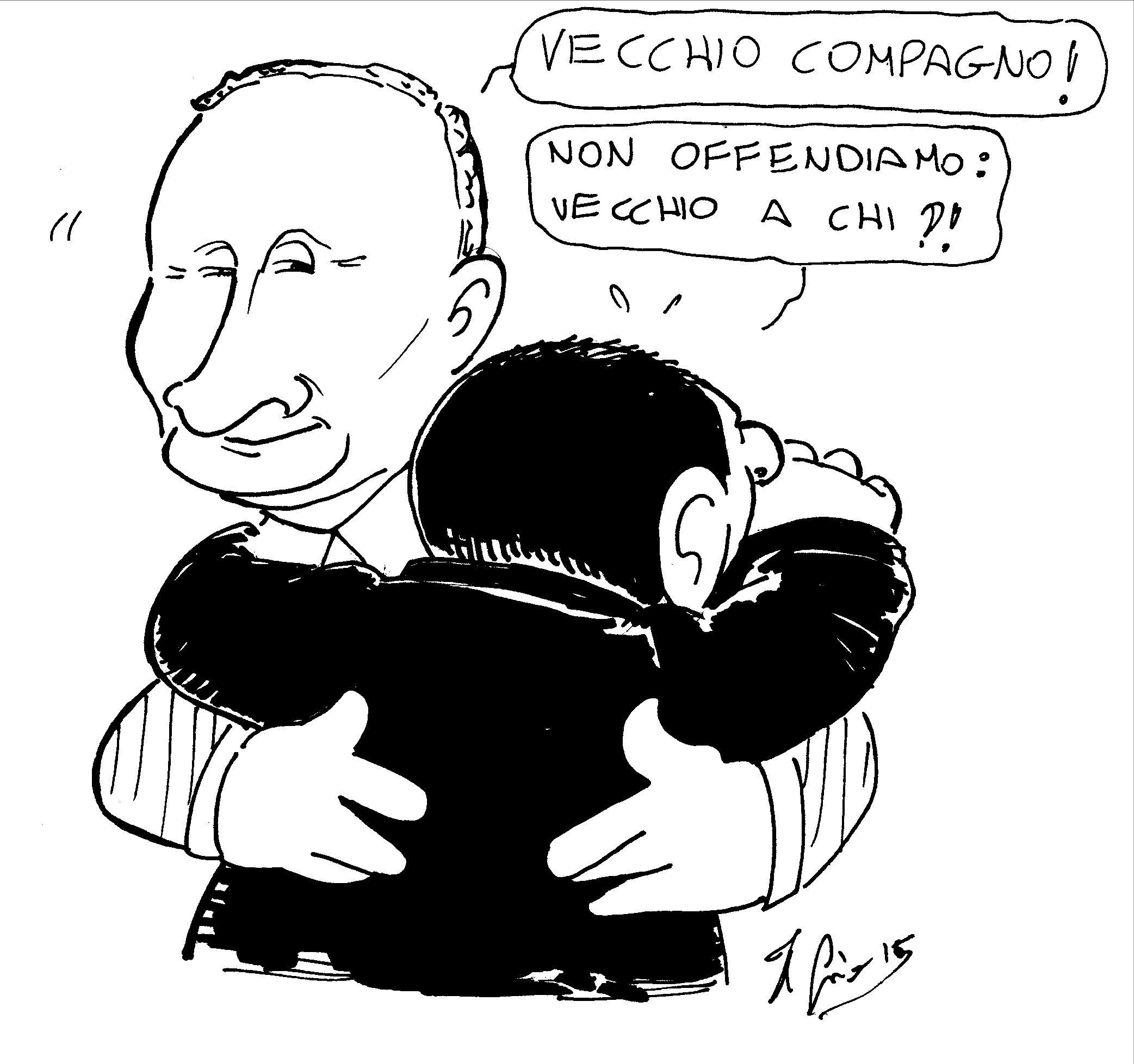 11.06.15 Putin-Berlusconi, incontro tra vecchi amici