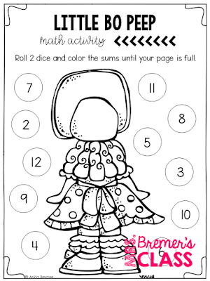 Nursery Rhymes Unit Featuring 10 Favorite Nursery Rhymes The Pack Includes Litera Kindergarten Math Activities Picture Book Activities Text To Self Connection