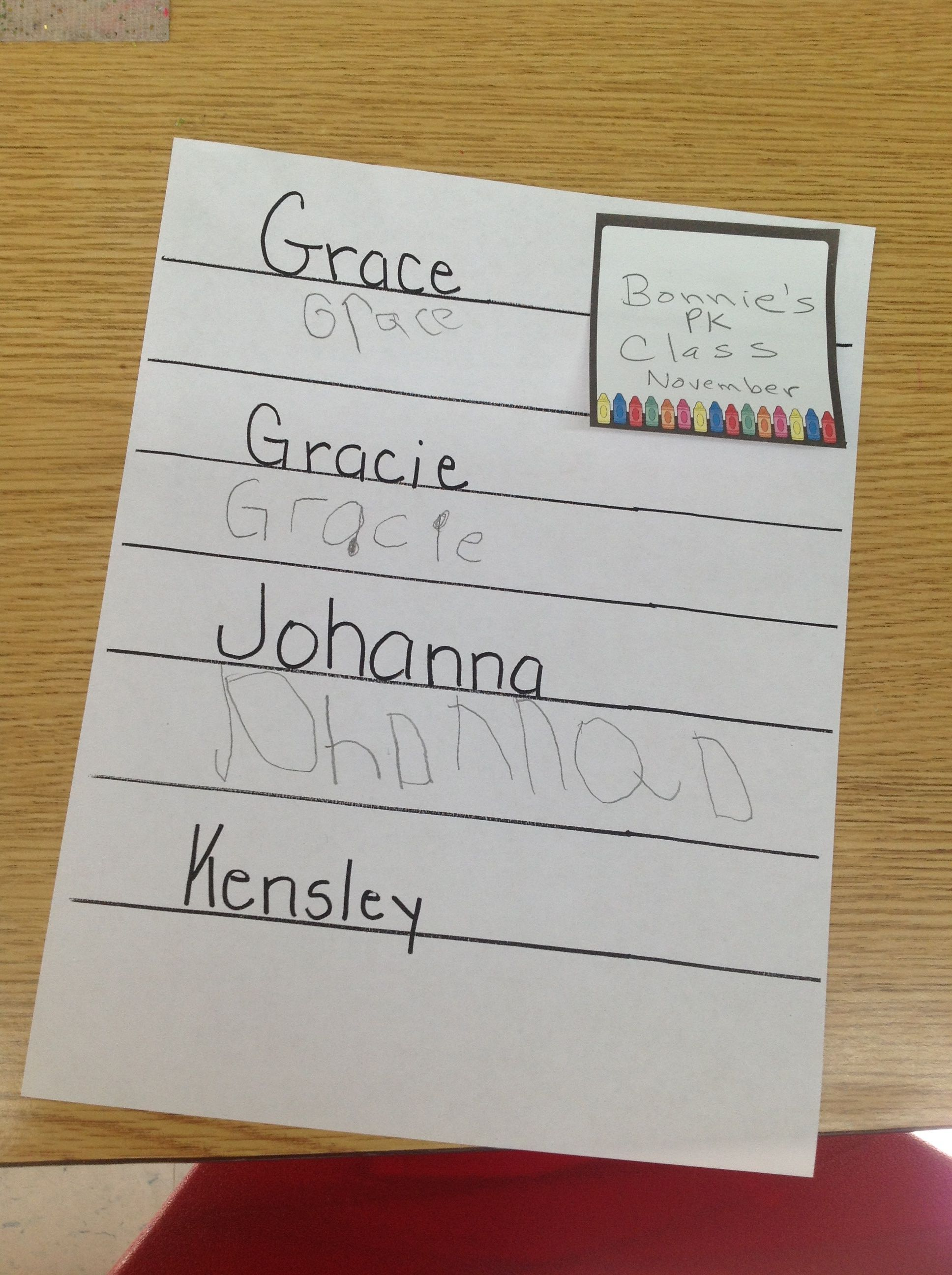 Beginning Of The Year Sign In Sheet Sample From 4 Year Old Pk Class Sign In Sheet Signs Classroom What to write to year old