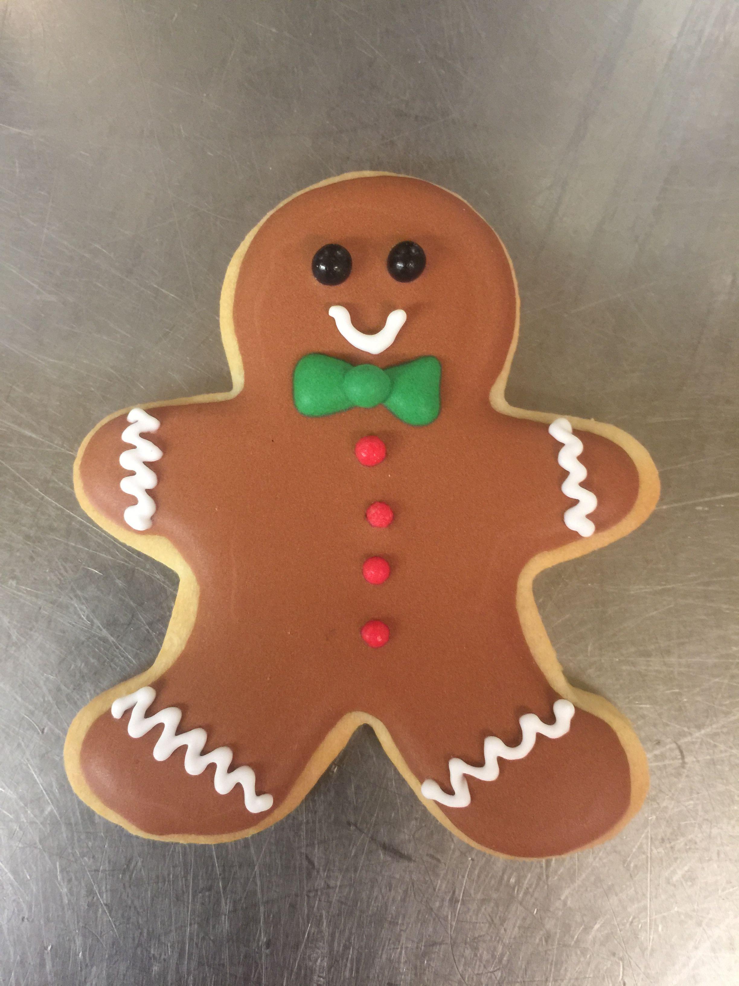 Royal Icing Gingerbread Man Sugar Cookie Cookies Christmas