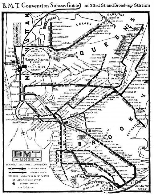 Madison Subway Map.New York Subway 1924 Subway Map Vol 1 Ch 5 Nyc Subway Map