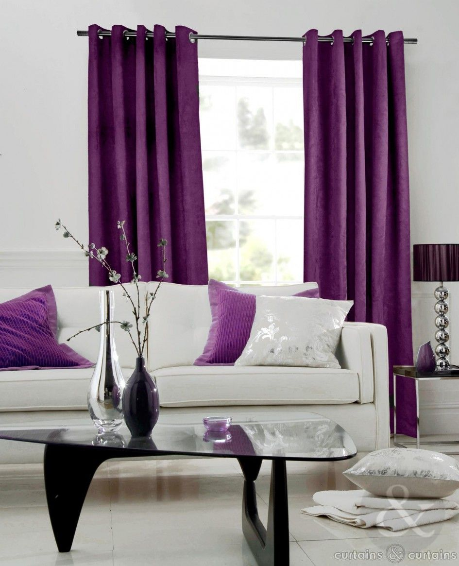 Decoration Awesome Grommet Plum Purple Curtains With W