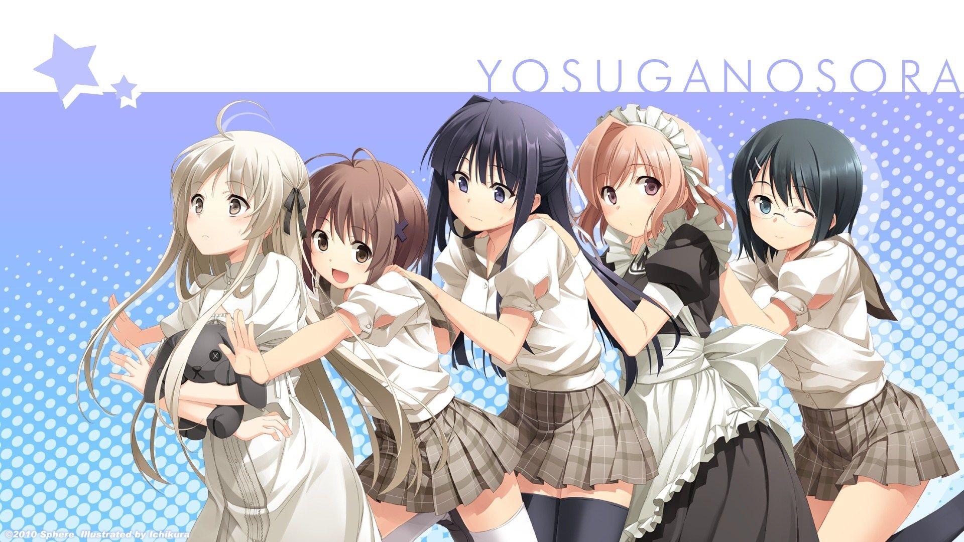 Anime Yosuga No Sora Akira Amatsume Nao Yorihime Motoka
