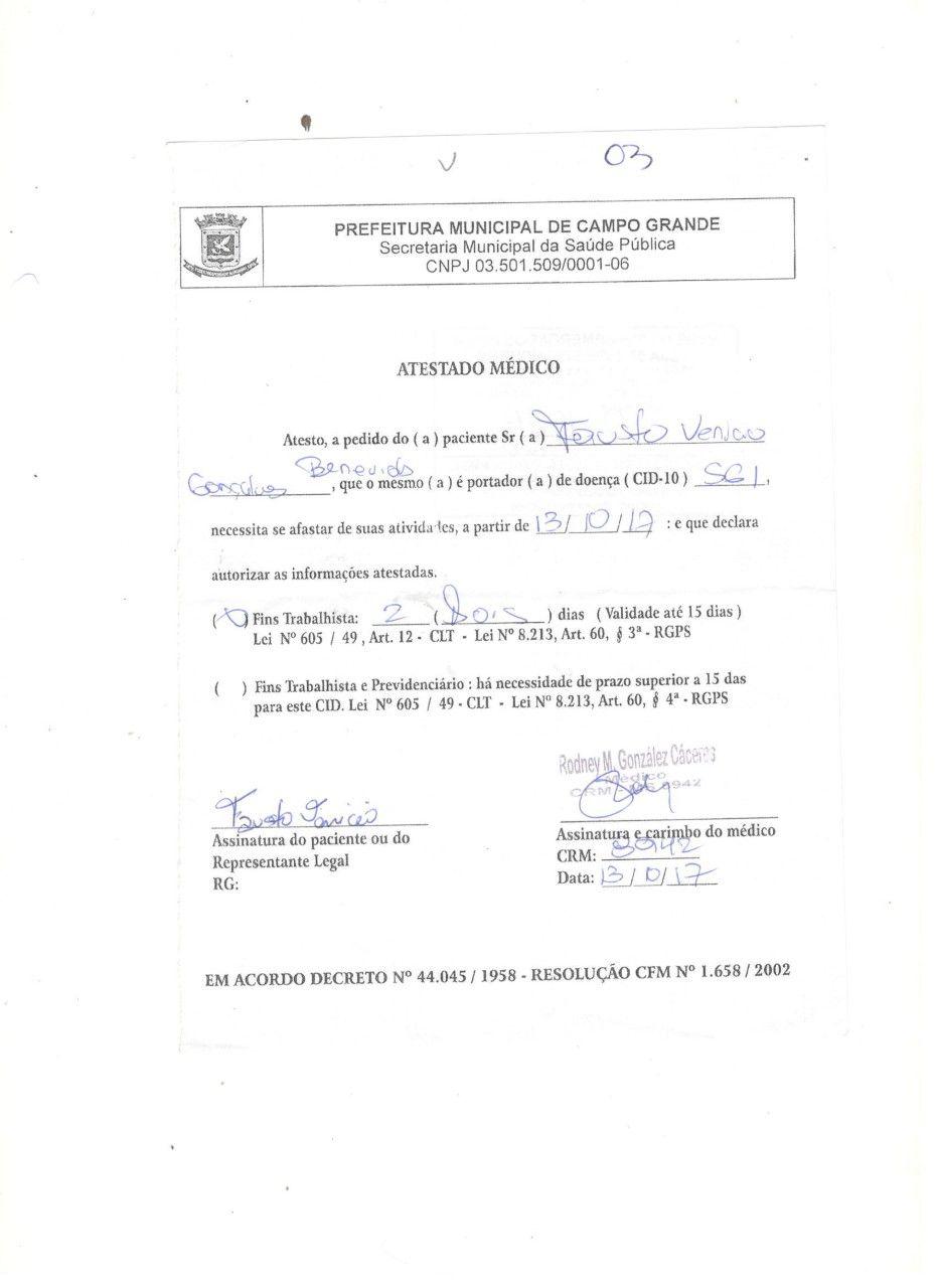 ENC: ABERTURA DE CAT / FAUSTO LJ 03 | ATESTADO MEDICO | Pinterest