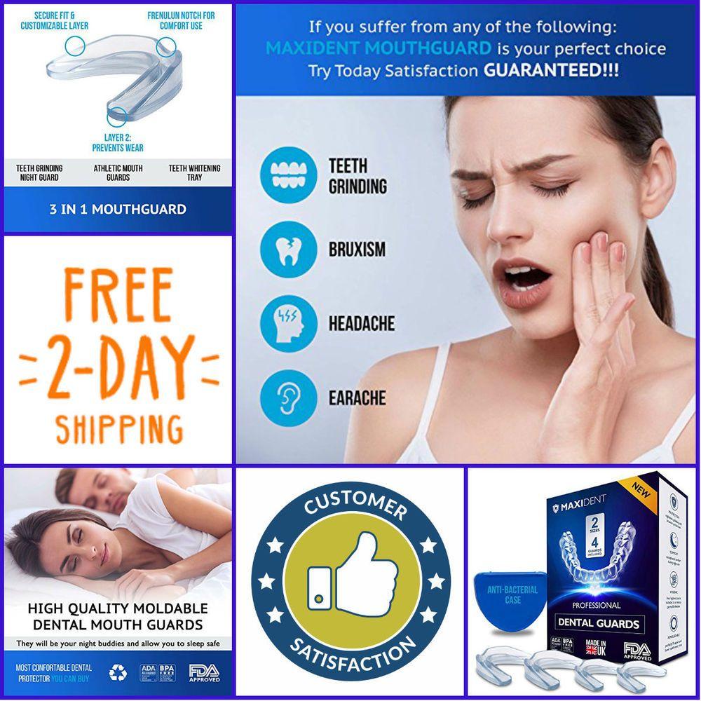 SLEEP BETTER! Professional Dental Guard Pack of 4 Teeth