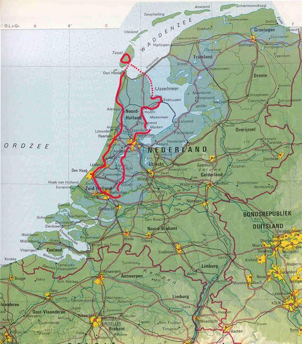 Holland Tulip Bike Tour Holland Map Bike Tour Old Maps