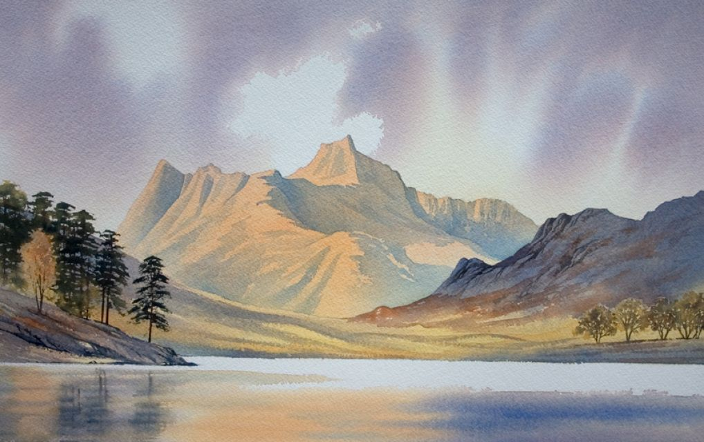 Store Buy Watercolour Paintings Of The Lake District By Artist Chris Hull Lake Painting Landscape Art Watercolor Landscape
