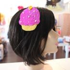 Product: Pink/Yellow Sequin Cupcake Headband