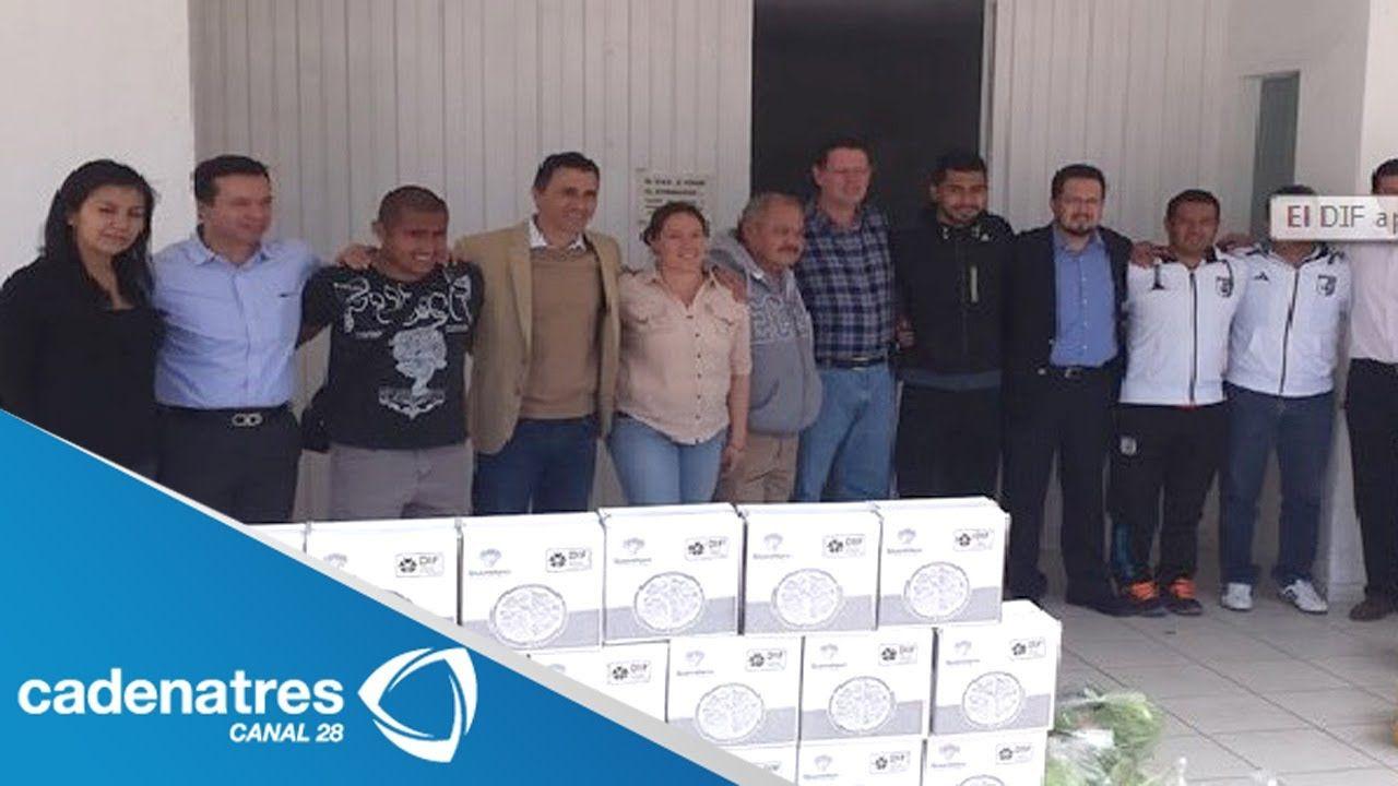 DIF-Querétaro dona despensas a jugadores de Gallos Blancos