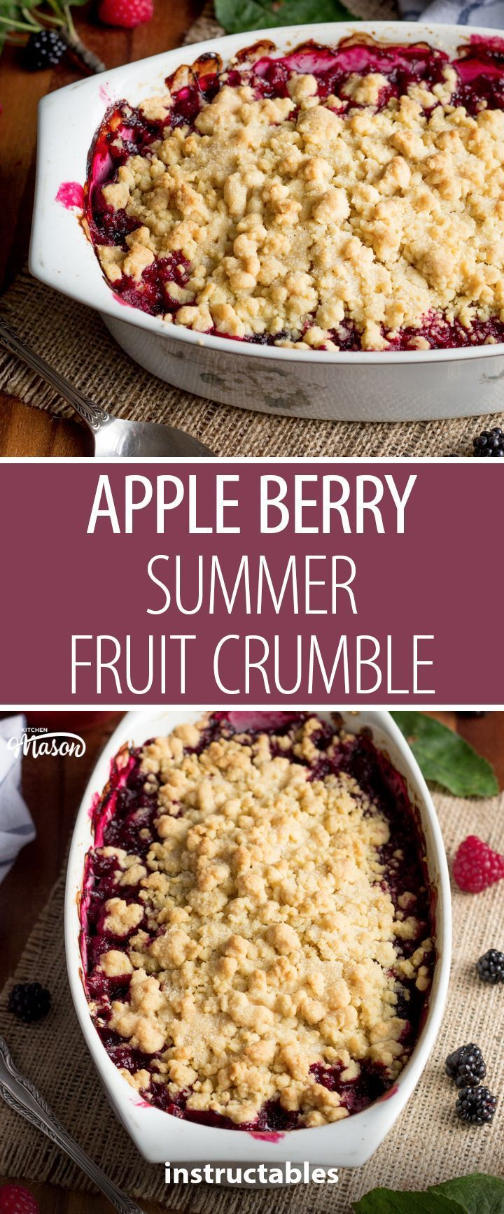How to Make an Apple Berry Summer Fruit Crumble