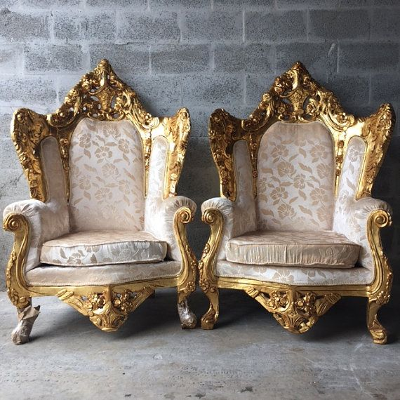 Antique Italian Rococo Chairs Fauteuil by SittinPrettyByMyleen - Antique Italian Rococo Chairs Fauteuil By SittinPrettyByMyleen