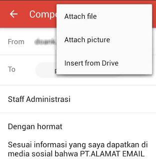 Cara Mengirim Surat Lamaran Kerja Via Email Di Hp Android Media Sosial Drive