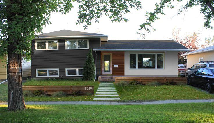 Mid Century Modern Split Level Remodel Exterior Exterior House Remodel Home Exterior Makeover