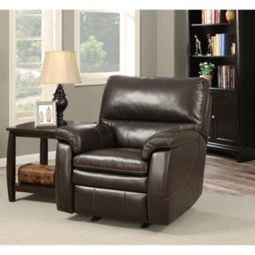 Sam S Club Crawford Top Grain Leather Recliner With Usb