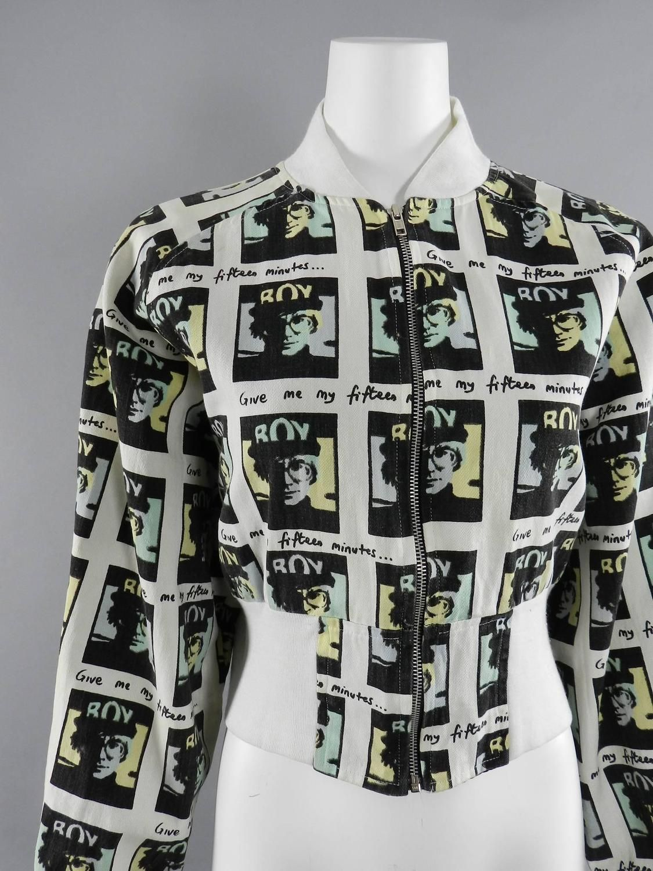 Vintage Boy London 1980 S Andy Warhol Bomber Jacket 1stdibs Com Fashion Outfits Jacket Design Clothes