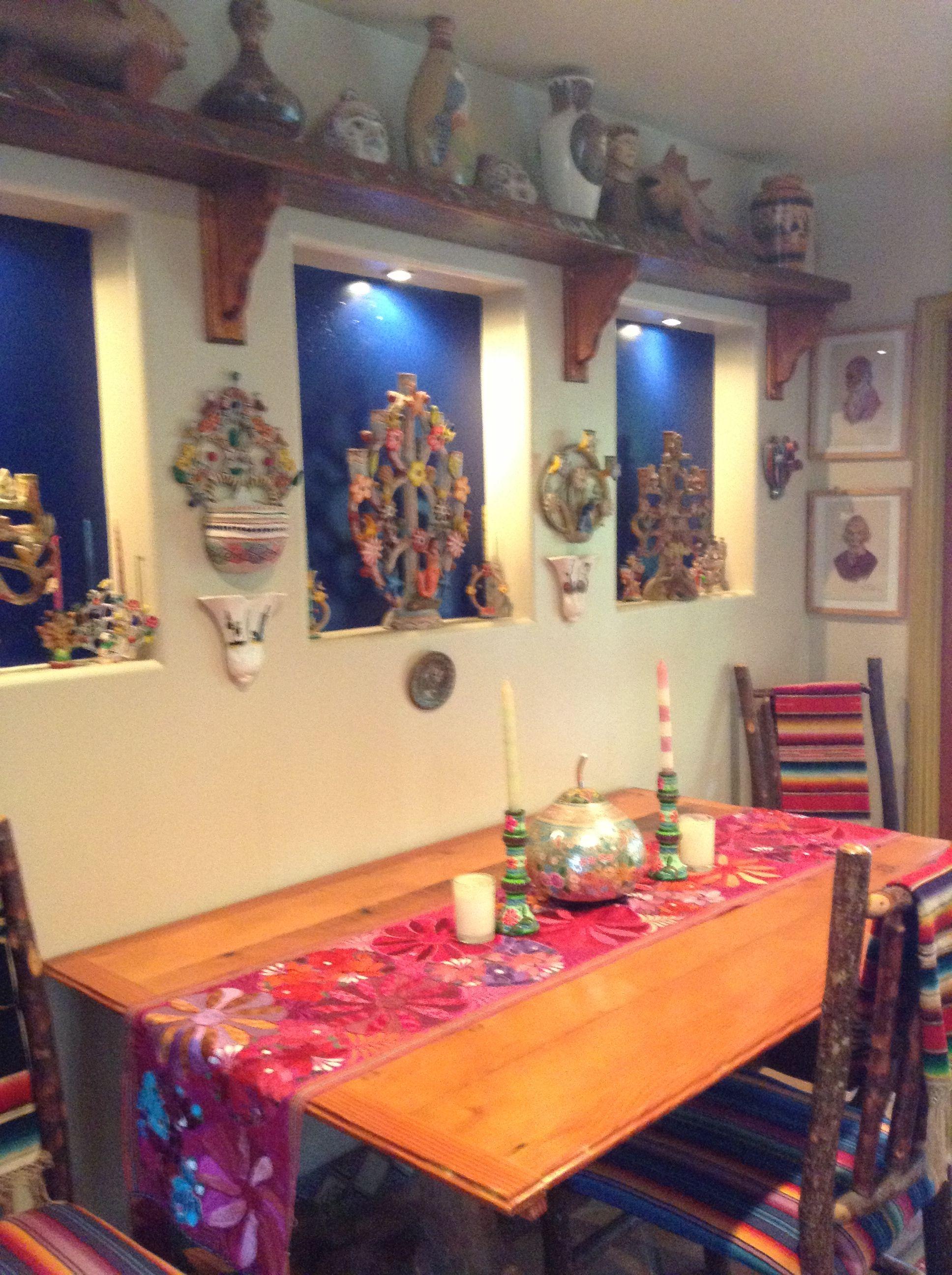 Camino de mesa casa mexicana haciendas y casonas en for Decoracion colonial mexicana